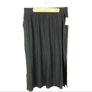 (B-25) Terra & Sky Black Maxi Skirt Size 0X 14W